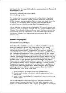 literature review example dissertation